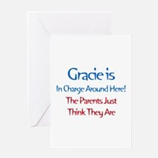 Gracie Is In Charge Greeting Card