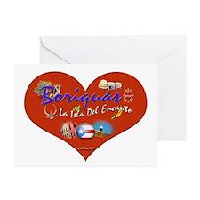 Boriquas Love La Isla... Greeting Cards (Pk of 10)