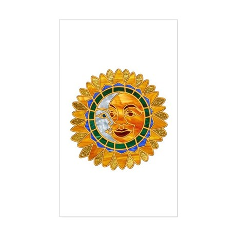 Sun Moon Celestial Rectangle Sticker