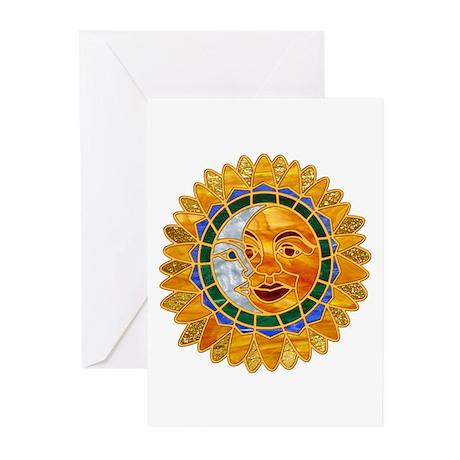 Sun Moon Celestial Greeting Cards (Pk of 10)
