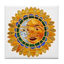 Sun Moon Celestial Tile Coaster