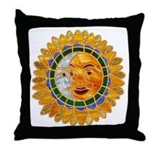 Sun Moon Celestial Throw Pillow