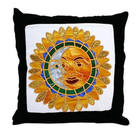 Sun Moon Celestial Throw Pillow