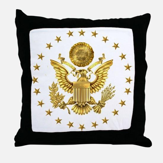 Gold Presidential Seal, The White Hou Throw Pillow