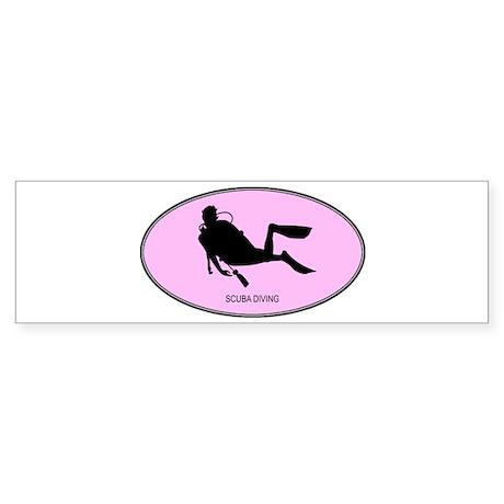 Scuba Diving (euro-pink) Bumper Sticker