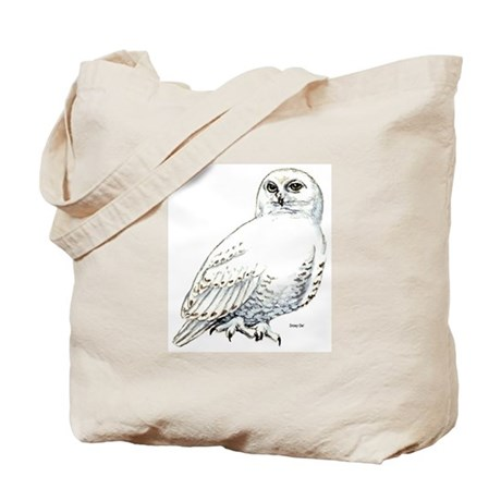 Snowy Owl Bird Tote Bag