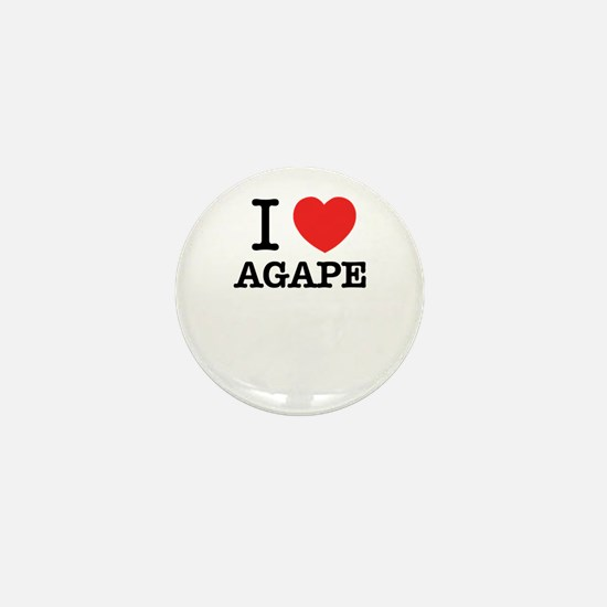 I Love AGAPE Mini Button