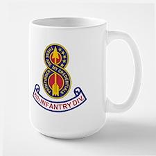 8th Infantry Division<BR> 15 Ounce Mug 2