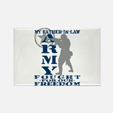 Father-n-Law Fought Freedom - ARMY Rectangle Magne