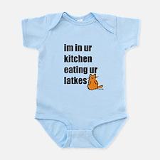 Eating Your Latkes Infant Bodysuit