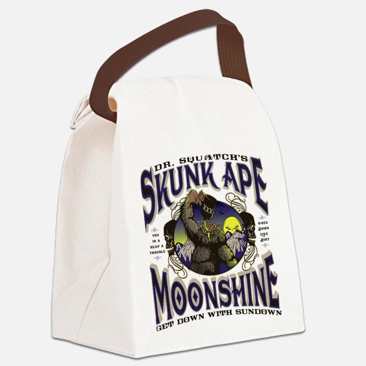 Dr. Squatch's Skunk Ape Moonshine Canvas Lunch Bag