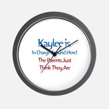 Kaylee Is In Charge Wall Clock