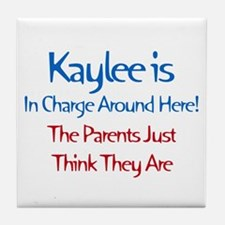 Kaylee Is In Charge Tile Coaster