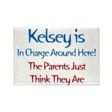 Kelsey Is In Charge Rectangle Magnet (10 pack)