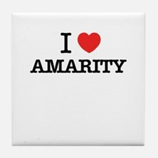 I Love AMARITY Tile Coaster