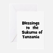 Blessings  to  the  Sukuma of Greeting Cards (Pk o