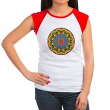MANDALA ART Women's Cap Sleeve T-Shirt