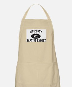 Property of Baptist Family BBQ Apron