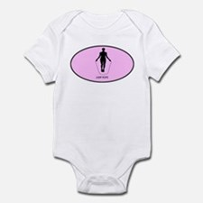 Jump Rope (euro-pink) Infant Bodysuit