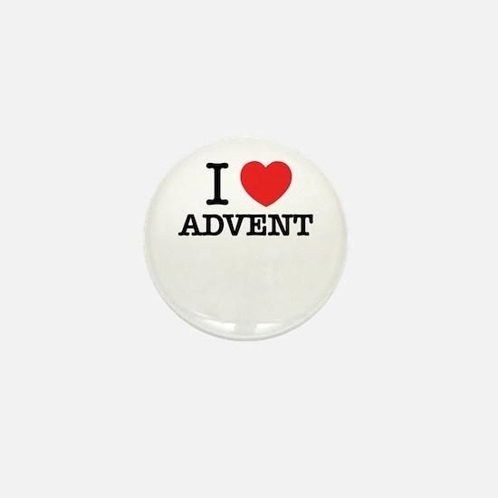 I Love ADVENT Mini Button