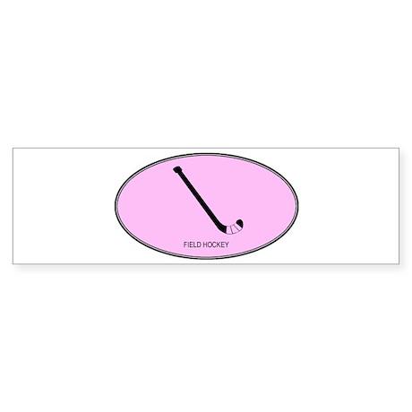 Field Hockey (euro-pink) Bumper Sticker