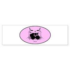 Drum (euro-pink) Bumper Bumper Sticker