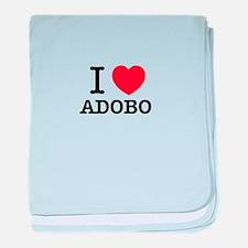 I Love ADOBO baby blanket