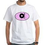 DJ (euro-pink) White T-Shirt