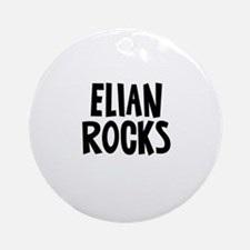 Elian Rocks Ornament (Round)