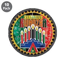 """Celebrate Kwanzaa 3.5"""" Button (10 pack)"""