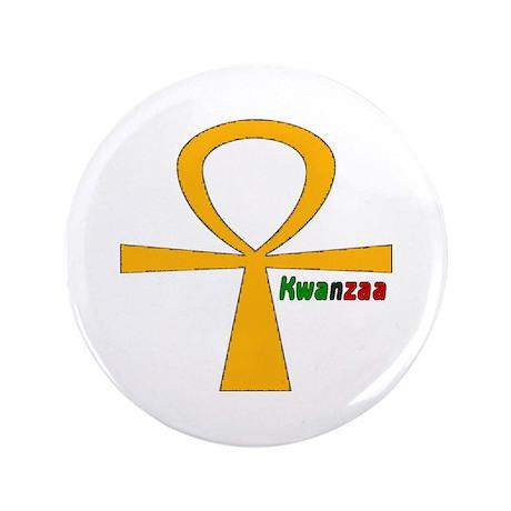 """Kwanzaa 3.5"""" Button"""