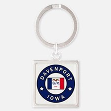 Funny Claires Square Keychain