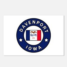 Davenport Iowa Postcards (Package of 8)