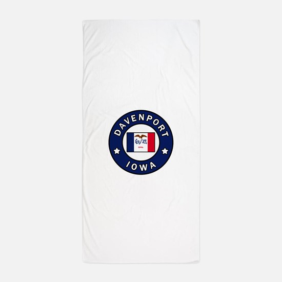 Davenport Iowa Beach Towel