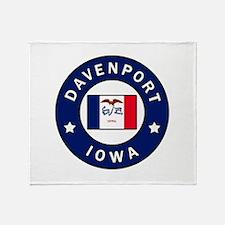 Davenport Iowa Throw Blanket