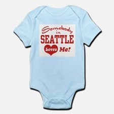 Somebody in Seattle Loves Me Infant Bodysuit