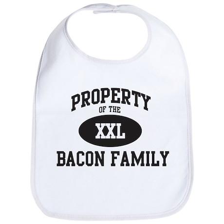 Property of Bacon Family Bib