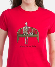 Waiting for Mr. Right Women's Red T-Shirt