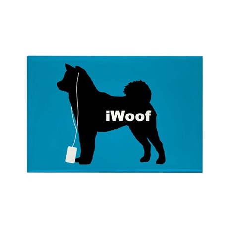 iWoof Shiba Inu Rectangle Magnet