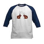 Chocolate Easter Bunnies Kids Baseball Jersey