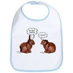 Chocolate Easter Bunnies Bib