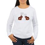 Chocolate Easter Bunnies Women's Long Sleeve T-Shi