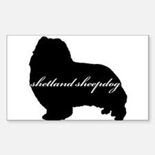Sheltie DESIGN Rectangle Decal