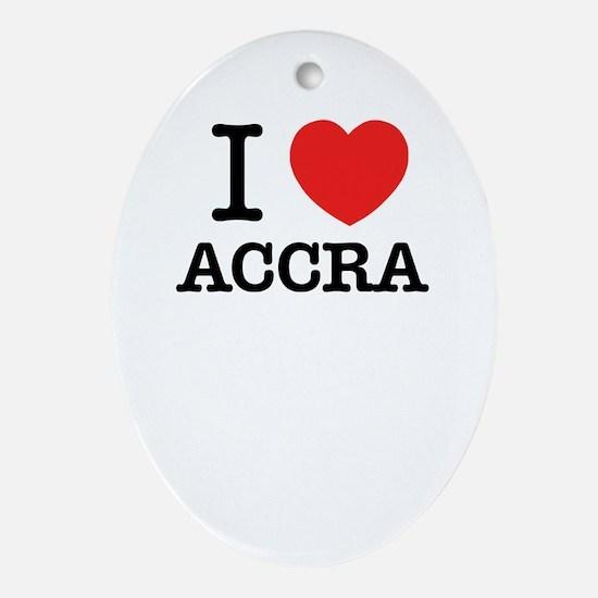 I Love ACCRA Oval Ornament