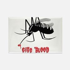 Mosquito Biting TEXT: Give Blood Magnets
