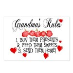 Grandma's Rules Postcards (Package of 8)
