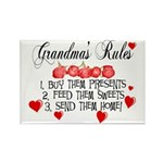 Grandma's Rules Rectangle Magnet