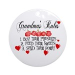 Grandma's Rules Ornament (Round)