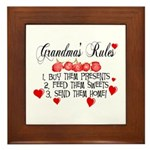 Grandma's Rules Framed Tile