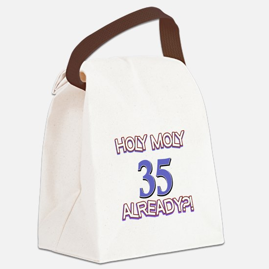 35 Already Birthday Designs Canvas Lunch Bag